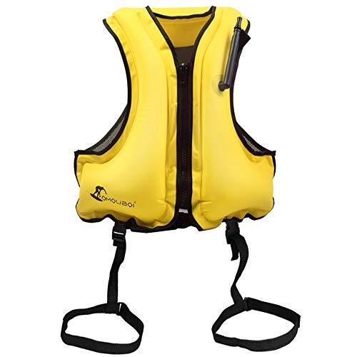 RFDSC Premium Comfortable Inflatable Vest zum Schnorcheln, Kajak Fahren und Surfen mit Secure Lock für Erwachsene und Kinder