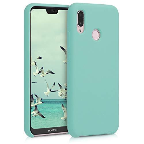 kwmobile Funda Compatible con Huawei P20 Lite - Carcasa de TPU para móvil - Cover Trasero en Menta