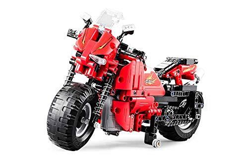 RC TECNIC Motorfiets RC Afstandsbediening Rijden | Spel Kit van constructie Motorfiets Radio bediening voor kinderen met batterij en Knop Afstandsbediening | Speelgoed om te bouwen 484 stuks
