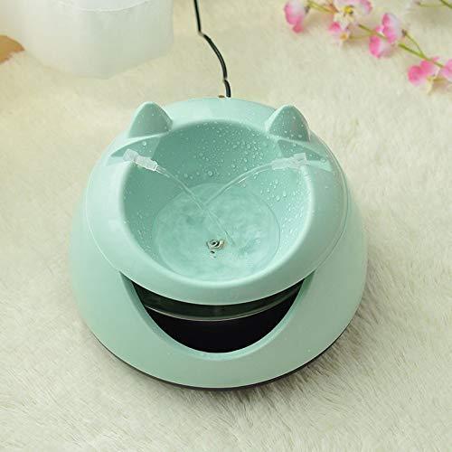 Dmqpp - Automatische Licht Haustier Wasserbrunnen for Katzen Brunnen Hunde USB Elektrische Wasserspender Tränken A Cat 505 (Color : Green)