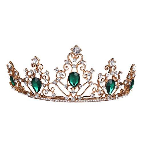 Minkissy Corona de Diamantes de Imitación Gemas Elegantes Reina Tiara Tocado de...