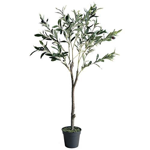 Hausgarten Dekoration, Künstliche Pflanzen Künstlicher Baum Olivenbaum Grünpflanzen In Töpfen Dekorative Bäume Für Haus & Büro, 95Cm