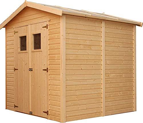 TIMBELA Holz Gartenschuppen MIT...