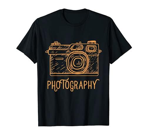 Fotógrafo Cameraman Fotografía Cámara Ilustración Camiseta