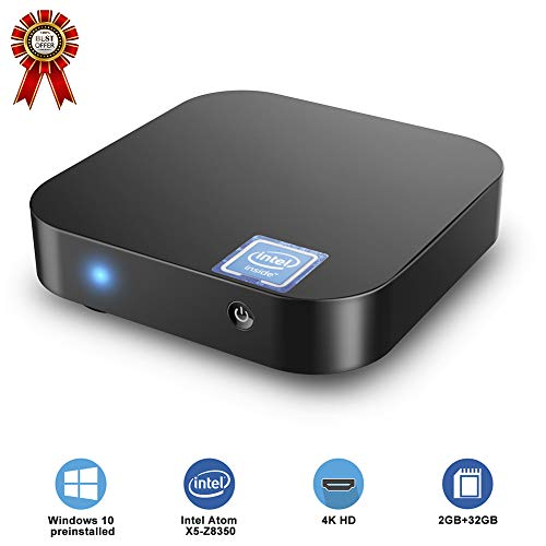 Multi-Functie Microcomputer, Smart Host, Office Home Draagbare Quad-Core Z8350 Mini PC, Windows 10 Besturingssysteem, Geschikt voor Online Winkelen, Entertainment Games, Office 2G+32G Zwart