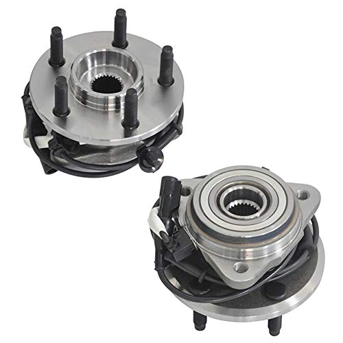 MAYASAF 515052 [2 Pack, 4WD/AWD Only] Front Wheel Hub Bearing Assembly Fit 1995-2001 Ford Explorer, 2001-05 Explorer Sport Trac, 2003-09 Ranger, 2003-09 Mazda B4000, 4x4 4WD/AWD Models, 5 Lugs w/ABS (1999 Ford Explorer 4x4 Front Wheel Bearing Replacement)