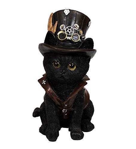 Gothic Deko Tier Figur Steampunk Katze Katzen Paar Reaper Tiger Skull Skulptur