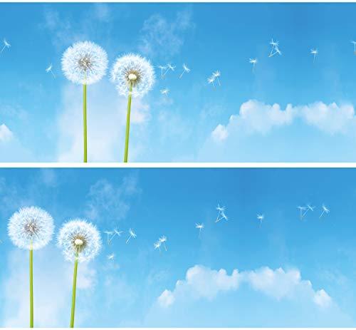 Selbstklebende Bordüre Pusteblumen, 4-teilig 560x15cm, Tapetenbordüre, Wandbordüre, Borte, Wanddeko,Löwenzahn, Glück