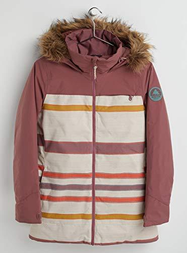 Burton Damen Lelah Snowboard Jacke, Rose Brown/Creme Brulee Woven Stripe, M