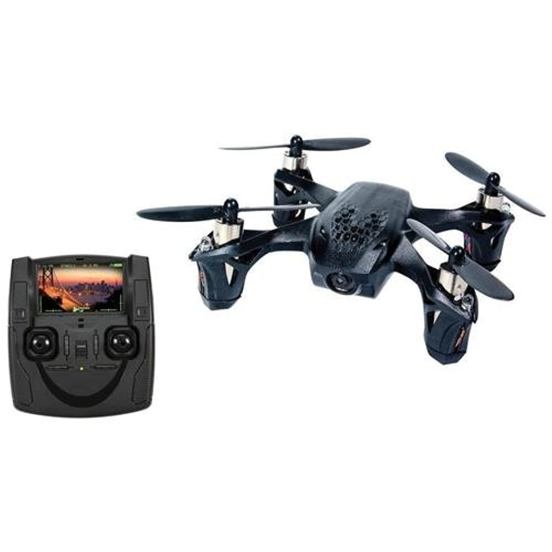 Hubsan H107D X4 Mini RTF Quadcopter with FPV Camera (Black)