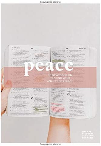 Peace Teen Girls Devotional 30 Devotions on Trading Your Anxiety for Peace Volume 1 LifeWay product image