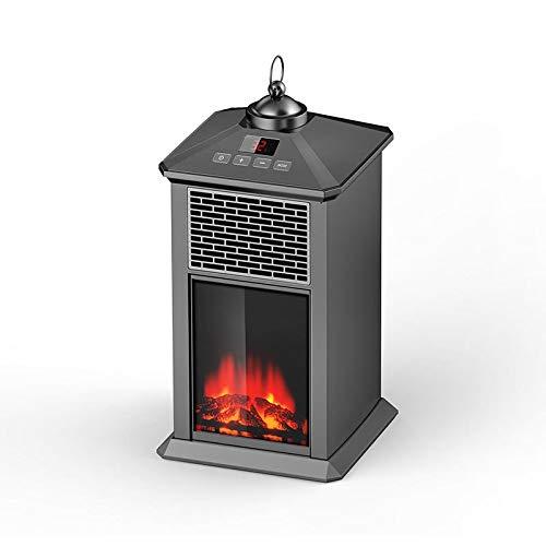 Heating Chimenea Eléctrica Móvil Tipo Estufa de Pie con Efecto de Leña...