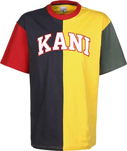 Karl Kani College Block Camiseta Navy/Yellow/Red/Green/White