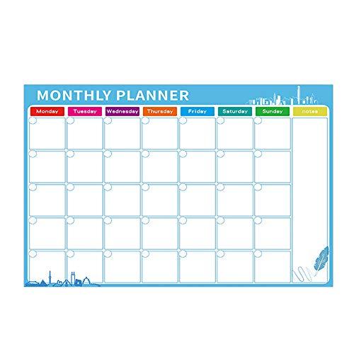 Pizarra Magnética para Nevera, Calendario Magnetico, Pizarra Blanca Magnética Calendario, Calendario Magnético...