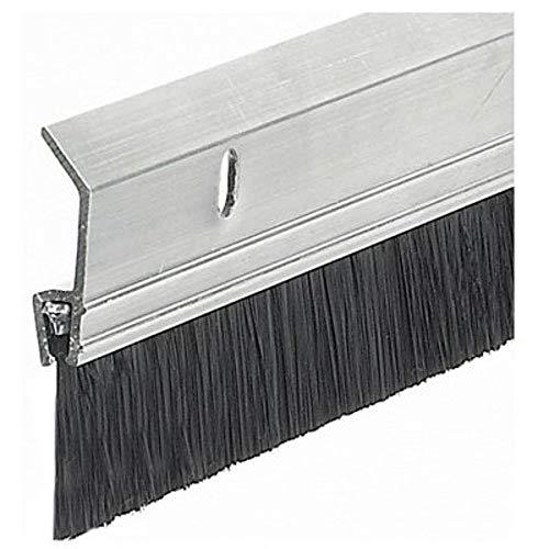 Frost King 2 x 36 SB36 Extra Brush Door Sweep, 2in Wide x 36in Long, Silver-Aluminum