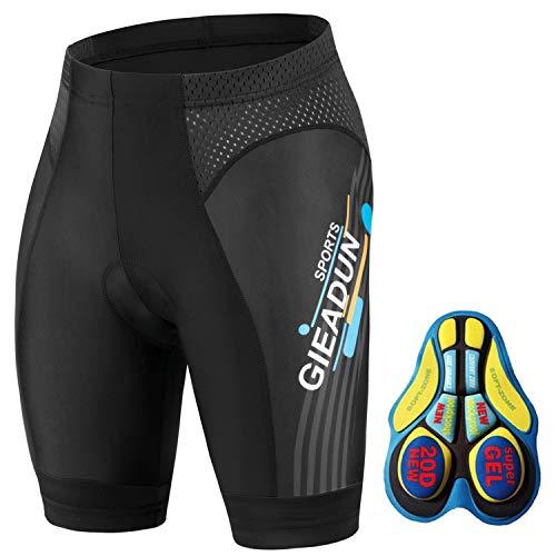 Culottes Ciclismo Hombre con Gel Acolchado Pantalones Cortos Ciclismo, Ciclismo Pantalones para MTB Deportes al Aire Libre