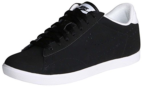 Nike Women's Racquette Black/Black-White Ankle-High Leather Racquetball Shoe - 7.5M