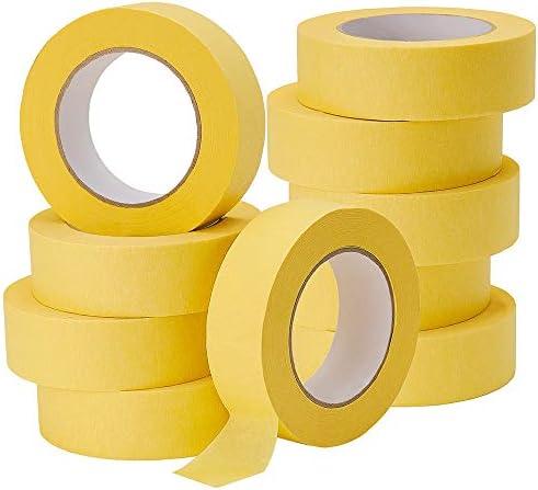 Lichamp 10 Pack Automotive Refinish Masking Tape Yellow 36mm x 55m Cars Vehicles Auto Body Paint product image