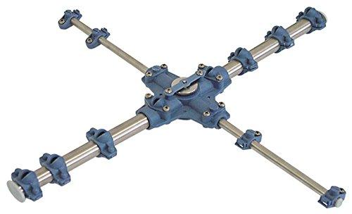 Dihr TRO-450 EP - Brazos de lavado en cruz para lavavajillas tro450, instalación inferior de 10/32 mm de diámetro, 13 boquillas, 5 boquillas de lavado, 8 boquillas