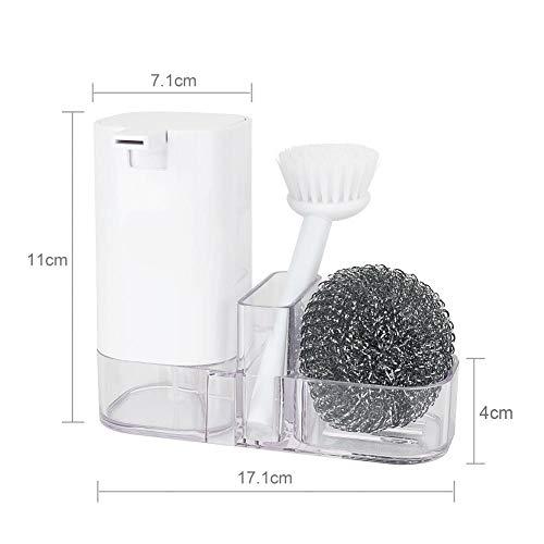 Caja de almacenamiento de cocina Multifuncional Limpieza Sucker Soporte de almacenamiento Utensilios Cepillo Organizador Soporte Botella de loción integrada