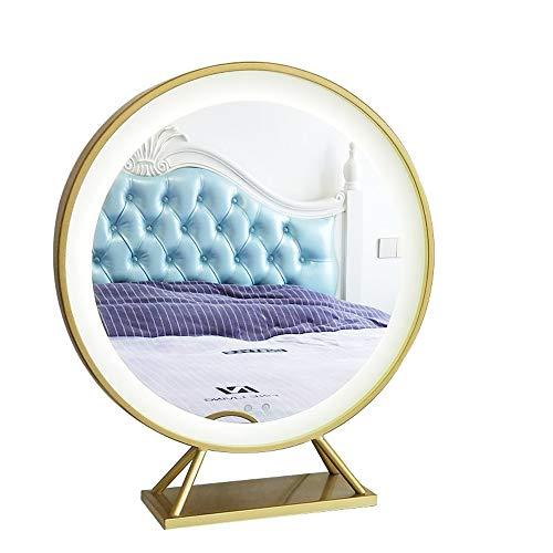 Jiamuxiangsi Badkamerspiegel make-up spiegel spiegel slaapkamer kaptafel kapper badkamerspiegel punchvrij wandspiegel ronde spiegel oplichtende grote spiegel