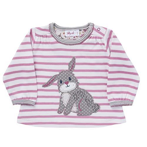 People Wear Organic - Shirt Hase pink Geringelt Langarm (74/80)
