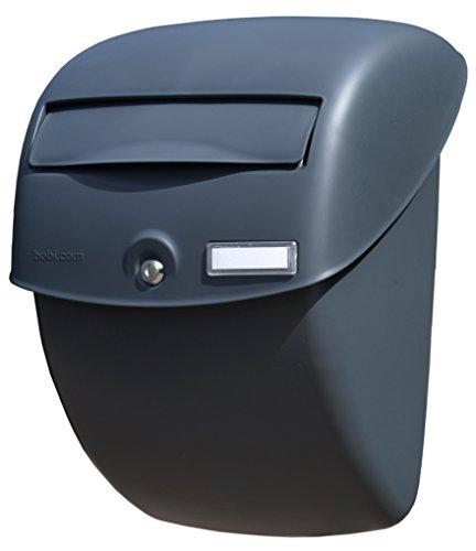 BOBI Bella - Buzón de plástico A4, color antracita, tamaño de ranura, norma UE EN 13724