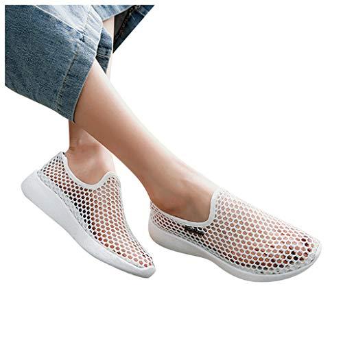 Briskorry Zapatillas de mujer con lentejuelas, plataforma, para el tiempo libre, con cordones, con cuña, deportivas, brillantes, cómodas, para el tiempo libre, para correr, para el aire libre