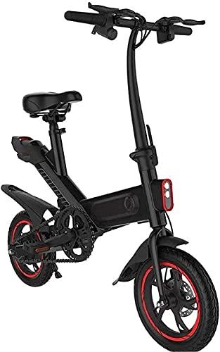 Bicicleta electrica Bicicletas eléctricas rápidas para Adultos Bicicleta eléctrica, Ciudad Plegable de 25km / h 250W con batería de la 6ah Lion, TURE DE 12 Pulgadas 3 Modos DE Trabajo