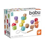 MindWare babu Wooden Baby Collection: Lacing Beads Toys