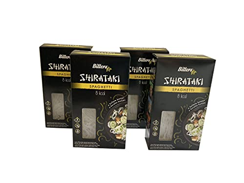 BITTERS Shirataki PASTA - spaghetti, 4 x 390 grammi, shirataki konjac, senza glutine, 4 pack