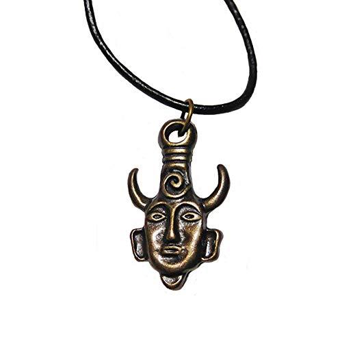 Ruiting Halskette Kreative Supernatural Dean Winchester Maske Amulett Dämon Halskette Schmuck Bronze Schmuck