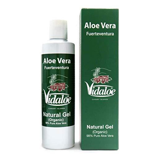 Gel natural de aloe vera pulpa natural 250 ml - Alivia el dolor, el picor, la irritación y la inflamación a la vez que nutre y repara desde las capas más profundas a las más superficiales de la piel.