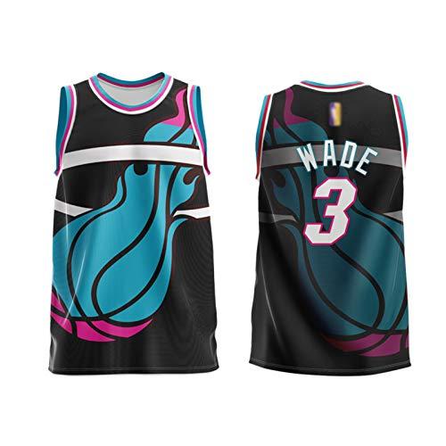 ZYJL Wade - Camiseta de baloncesto para adulto, Miami 3 # Retro Basketball Jerseys Fans Deportes Tank Top Baloncesto Ropa de entrenamiento Chaleco (M-6XL) M