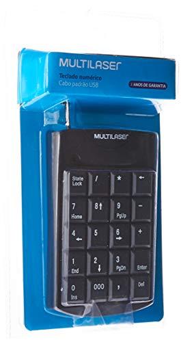 Teclado Numérico Multilaser Com Fio Usb 20 Teclas Preto - Tc229, Multilaser, Teclados, Windows 98/ ME/ 2000/ XP/Vista ou superior, Preto