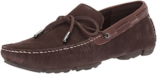 UGG Men's Bel-Air Lace Slip-On Driving Style Loafer, Stout, 11 M US