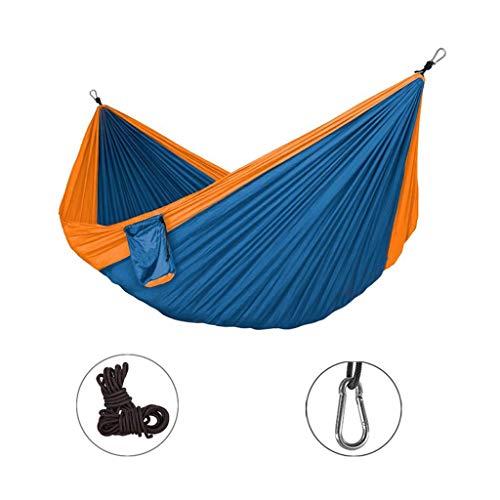 Hamacs, Meubles de Camping Balançoire de Camping Tissu de Parachute extérieur Rangement Pratique Résistance à la déchirure Charge 300 kg (Couleur: Gris, Taille: 320 * 200 cm) Confortable