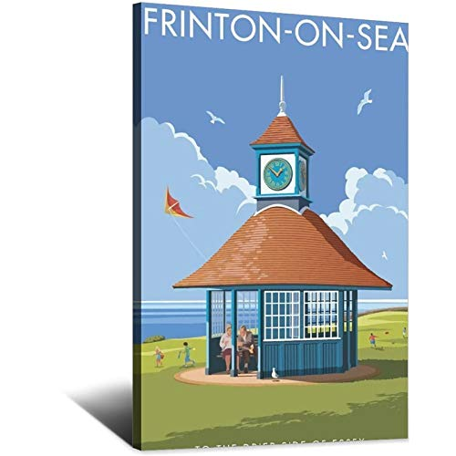 ASFGH Póster de la torre del reloj de Frinton-On-Sea inspirado en la...