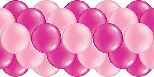 Luftballongirlande  Rosa & Rosa  100 Meter - partydiscount24