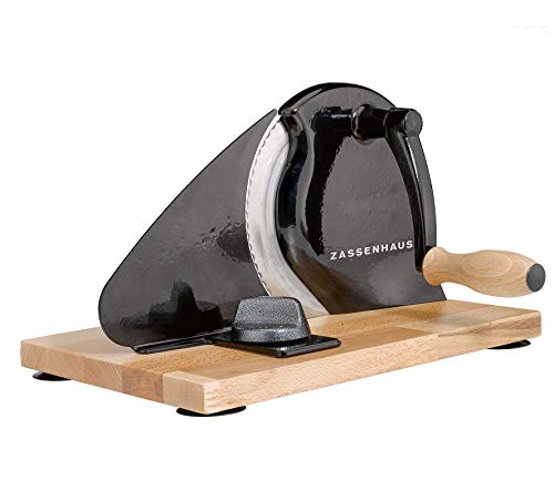 Zassenhaus Classic Manual Bread Slicer, 11.75-Inch by 8-Inch, Black