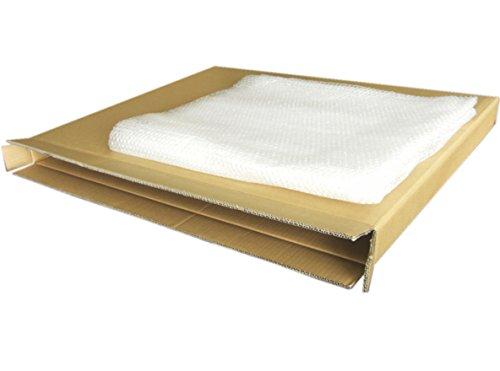油彩額縁(F12-20)、A1フレーム等の大型薄物梱包ダンボール(895X75X730) と保護用エアクッション(約1.8MX1.2M)のセット
