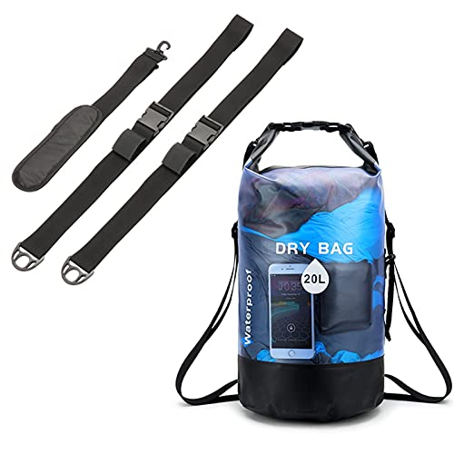 Paddle Board Shoulder Strap, with Waterproof Dry Bag 20L, 8cm Thick Soft Shoulder Pad, Easy to Carry, Paddle Board Accessories for Surf, Rafting
