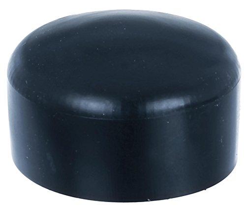 GAH-Alberts 654627 Pfostenkappe für runde Metallpfosten, schwarz, Ø60 mm / 10 Stück