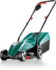 Bosch gräsklippare Rotak 32 (1200 W, gräs fångstlåda 31 l, klippbredd: 32 cm, klipphöjd: 20-60 mm, i kartong)