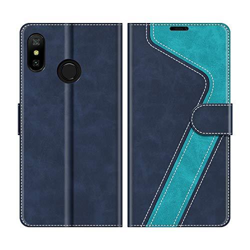 MOBESV Custodia Xiaomi Mi A2 Lite, Cover a Libro Xiaomi Mi A2 Lite, Custodia in Pelle Xiaomi Mi A2 Lite Magnetica Cover per Xiaomi Mi A2 Lite, Elegante Blu