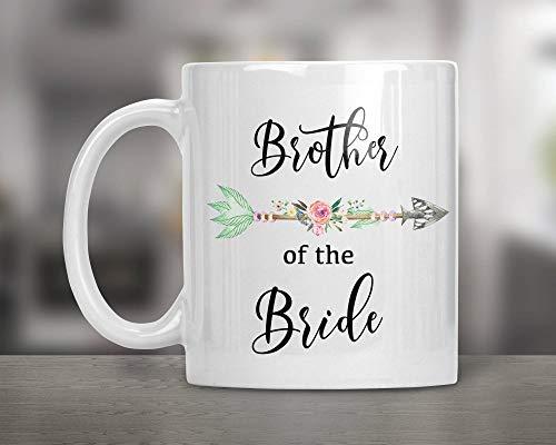 Taza de boda para hermano de la novia, regalo de despedida de soltera, personalizable, regalo de boda, hermano, regalo para hombre