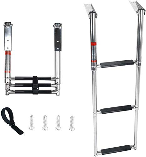 DasMarine 316 Stainless Steel Telescoping Ladder, 408kg Capacity for Marine...