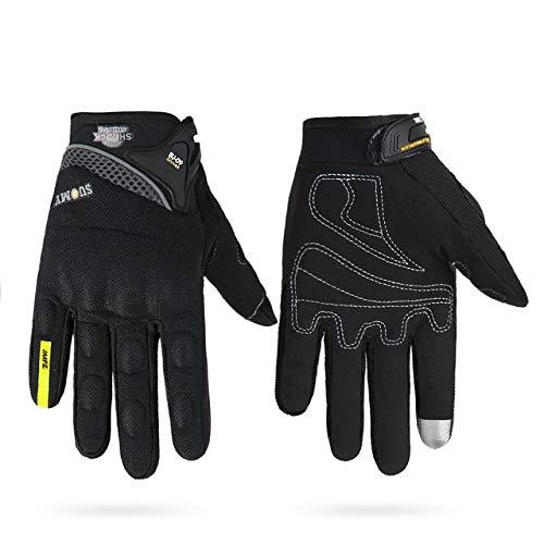 Motorradhandschuhe HerrenWasserdicht Winddicht Winter Gant Moto Handschuhe Touchscreen Guantes Moto Motorrad Reithandschuhe-a14-L