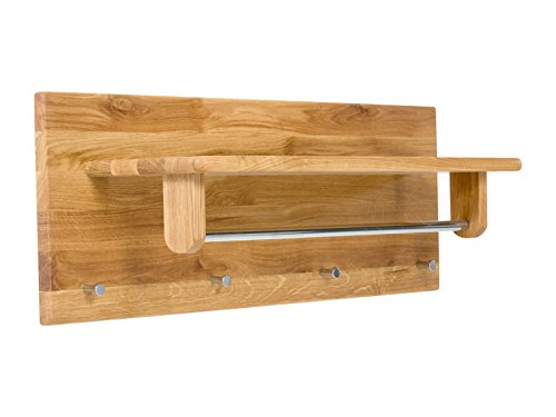 Massivum Keno Garderobe, Holz, Natur, 81 x 24 cm