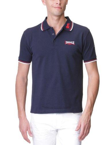 Lonsdale Walkley Polo, Bleu/Rouge/Blanc, L Homme